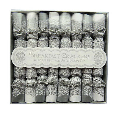 Christmas / Afternoon Tea - Breakfast Saucer Crackers - Gold / Silver - Box of 8