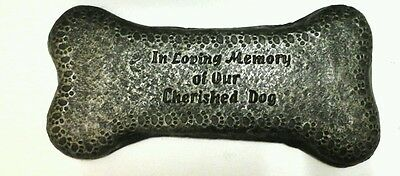 Extra large Dog memorial bone black and gold r