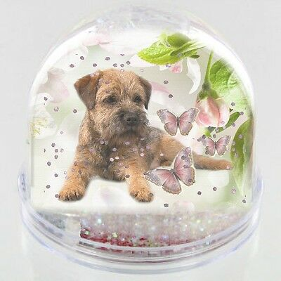 """AD-BT5yCB Border Terrier Puppy Dog /""""Yours Forever.../"""" Christmas Tree Bauble Dec"""