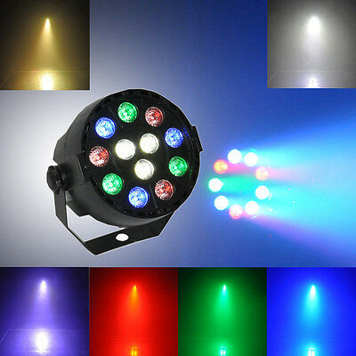 12 RGB LED Stage Strobe Light 8CH DMX-512 Lighting Laser Projector Party Club DJ