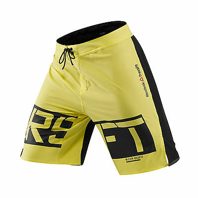 Reebok Crossfit Mens Core Training Fitness Board Short Yellow