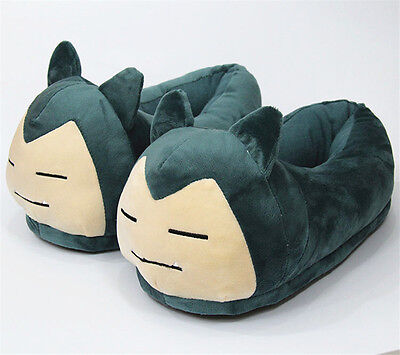 Pokemon Snorlax Cosplay Adult Slippers Shoes Plush