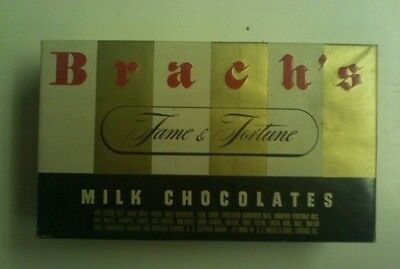Brach's Fame & Fortune Milk Chocolate Candy Box Vintage