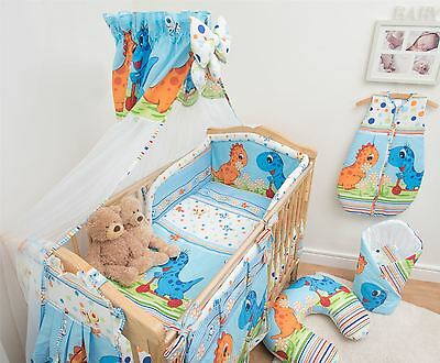 10 Piece Baby Bedding Set with Thick Bumper for 120x60 cm Cot - Pattern 20