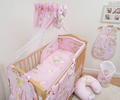 10 Piece Bedding Set with Thick Bumper for 140x70 cm Baby Cot Bed - Pattern 5