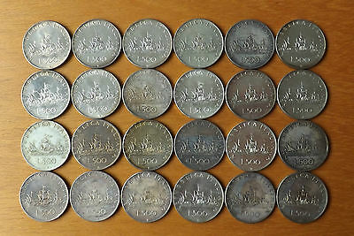 16 x Italy Silver 500 Lire Coins 1958 UNC Grade Lustrous Toned Superb Examples