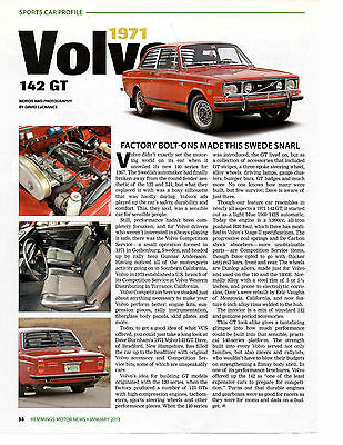 1971 Volvo 142 Gt ~ Nice Sports Car Profile Article / Ad
