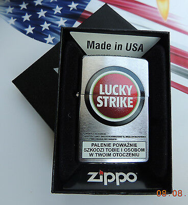 "Zippo "" Lucky Strike "" The American Original Since 1871 .two Sides .new"