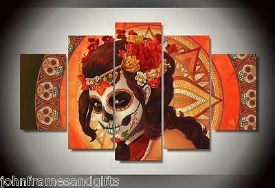Day Of The Dead print canvas in 5 pieces