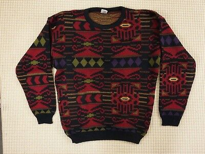 Jumper 80s 90s oversize M unisex cosby abstract geometrical crazy  (EJ258)