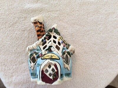 Blue Sky Clayworks Reindeer Lodge Tealight House by Heather Goldminc