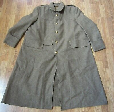 Wwi British  M1909 Trench Wool Overcoat Greatcoat-2Xlarge