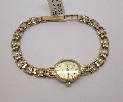 9ct yellow gold Geneve quartz movement watch and matching 9ct bracelet set