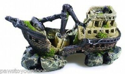 Classic 2680 Fish Tank Aquarium Ornament Ship Boat Wreck Galleon Cave Decoration