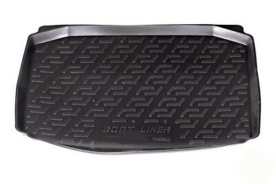 Tailored Black Heavy Duty Boot Tray Liner Mat Fits For Seat Ibiza 2008-On
