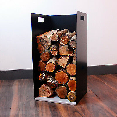 Small Modern Firewood Log Store Holder for Woodstove Fireplace Wood Holder