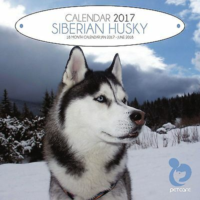 Siberian Husky Dog Calendar 2017 with free pull out planner