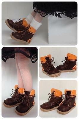 Neo Blythe handmade leather brown boots two colors