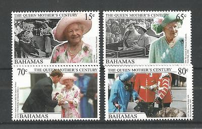 Bahamas 1999 Queens Mother Century  Sg,1184-1187 U/m Nh Lot 1325A