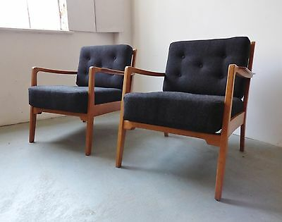 1 OF 2 1950S / 60s DANISH LOUNGE ARM CHAIRS MID-CENTURY VINTAGE