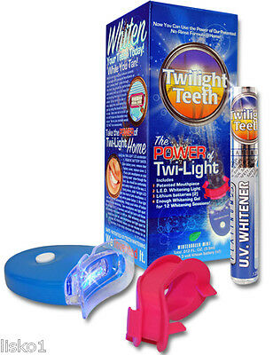 Twilight Teeth UV Whitener kit at home or while tanning (WITH 1 FREE REFILL)