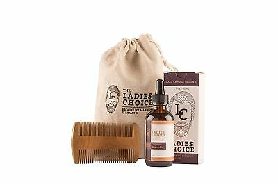 Cyber Monday 71% Off The Ladies Choice 100% Organic Beard Care Kit-Comb-Oil-Bag