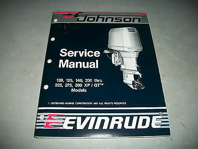 Nos New 1988 Johnson Evinrude 120-300 Outboard Service Shop Manual P/n # 507664