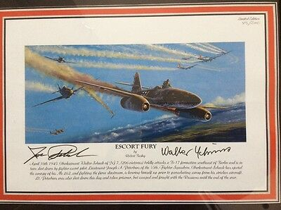 ' Escort Fury' by Robert  Bailey . Signed Limited Print.  Schuck and Peterbur