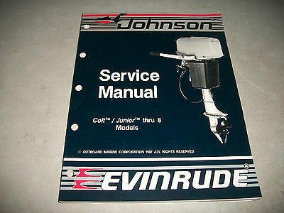Nos New 1988 Johnson Evinrude 2.5-8 Outboard Service Shop Manual P/n # 507659