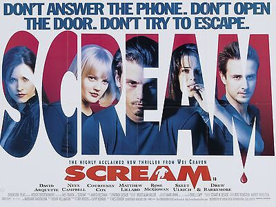 """Scream 1996 16"""" x 12"""" Reproduction Movie Poster Photograph"""