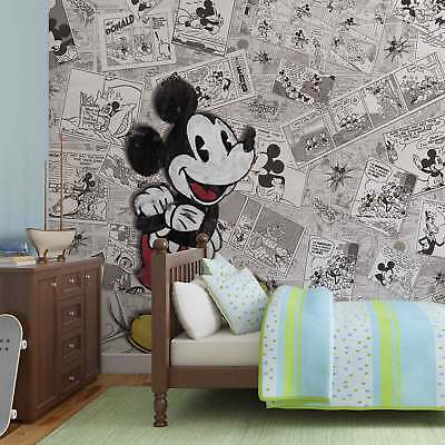 WALL MURAL PHOTO WALLPAPER XXL Disney Mickey Mouse Newsprint Vintage (2883WS)