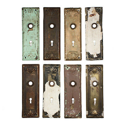 Antique Arts & Crafts Door Plates with Leaf Design, 19 Available,  NDP153