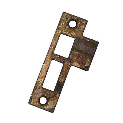 "Salvaged Antique Strike Plates for Mortise Locks, 7/32"" Spacing NSTP34"
