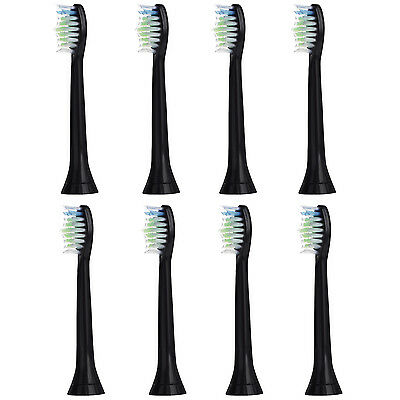 8 Pcs.E-Cron® Têtes de Brosse à Dents de Philips Sonicare DiamondClean Black