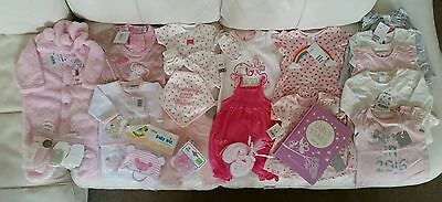 BNWT huge bundle baby girl clothes NB 0-3 3-6 mth RRP +£100 zara h&m next & more