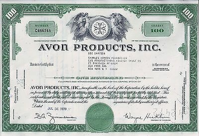 AVON Products Inc., New York, 1970 ( 100 Shares)