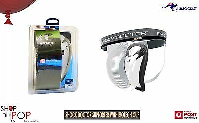 Shock Doctor Core Supporter with Bio-Flex Cup DP BNIB Black + white Cricket Ball