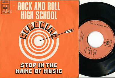ROCK AND ROLL HIGH SCHOOL - Geronimo 45 Belgian '74 GLAM ROCK PROTO PUNK RARE PS