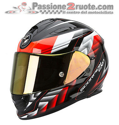 Casco Scorpion Exo 510 Air Scale nero rosso integrale moto XS S M L XL