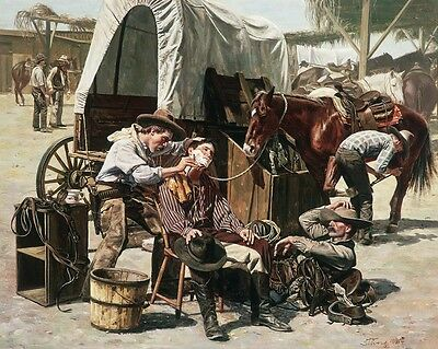 """""""A Day At the Post"""" Don Stivers Limited Edition Giclee Print"""