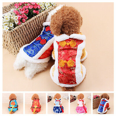 Noël Animal Chien Chat Costume cosplay Cadeau Vêtements ApparelRobe chinoise
