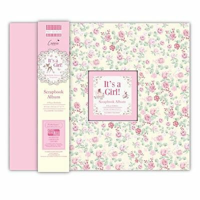 It's A Girl Large Scrapbook Craft Window Memory Baby Photo Album 12x12""