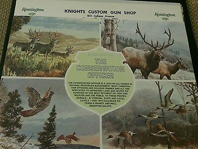 1979 Remington Salute To The Conservation Officer  Calender
