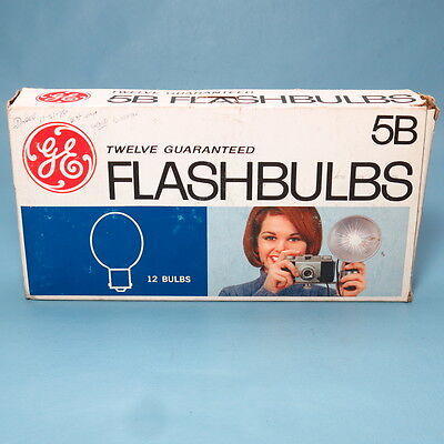 NOS 12 Each Unopened GE Type 5B Blue Flashbulbs Flash Bulb for Vintage Camera
