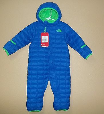 The North Face Infant Boys' Thermoball One Piece Fleece Lined Bunting New 3-6 M