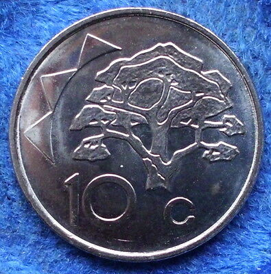 NAMIBIA - 10 cents 1993 KM# 2 BU Independent Republic (1990) - Edelweiss Coins