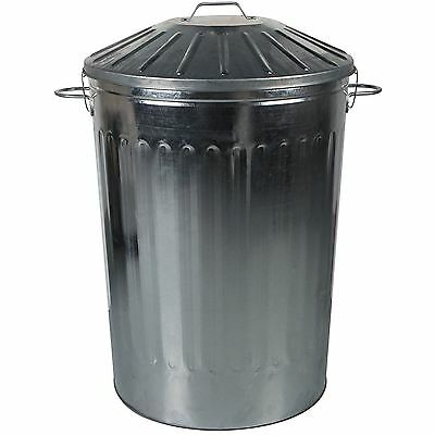 125L Extra Large Metal Dustbin Kitchen House Garden Bin with Special Locking Lid