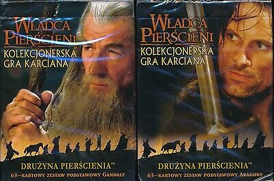 Lord Of The Rings German Ccg Starter Deck Lot Of (2) Gandalf & Aragorn