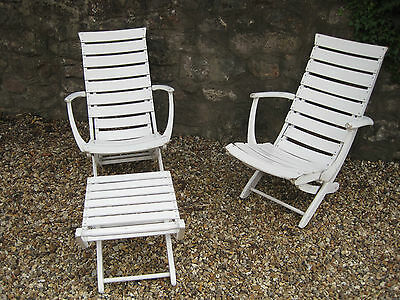 Triconfort Mid Century Riviera Pool Chairs and Ottoman 1960s