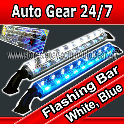 12v Auto Transporter Boot Limousine Home-fall Display Blinkend Weiss Blau